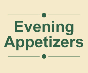Evening Appetizers Menu