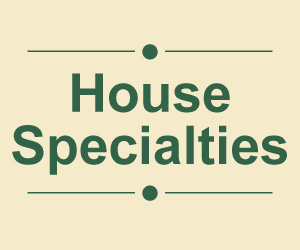 House Specialties Menu