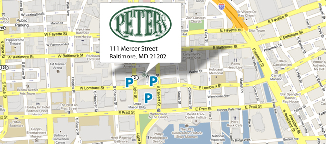 Google map to Peters Pour House